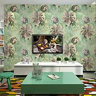 Contemporary Wallpaper Art Deco 3D Garden Flower Wallpaper Wall Pure Paper Wall Art