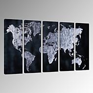 Abstrakt Landschaft Fantasie Freizeit Photografisch Patriotisch Modern Romantisch Landkarten Pop - Art Reise Fünf Panele VertikalWand