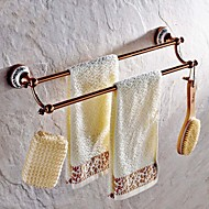 Towel Bar Gold Wall Mounted 64*61*9cm(25.19*24*3.54inch) Brass Neoclassical