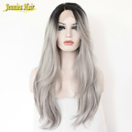Ombre Grey Straight Human Hair Wig Lace Front Wig Glueless Natural Black 1B/Gray Heat Resistant Hair Wigs New Style
