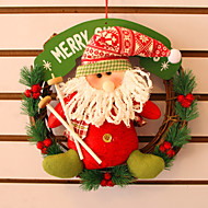 "30CM/12"" Christmas Rattan Hoop Christmas Decoration Hangings Christmas Wreath Santa Claus"