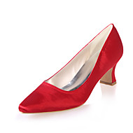 Women's Spring / Summer / Fall Square Toe Satin Wedding / Party & Evening Chunky HeelBlack / Blue / Purple / Red / Ivory / White /