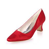 בלרינה\עקבים - נשים - נעלי חתונה - מרובע - חתונה / מסיבה וערב - שחור / כחול / סגול / אדום / שנהב / לבן / שמפניה
