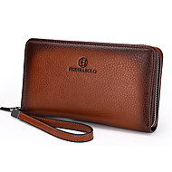 Men Cowhide Casual / Event/Party / Wedding / Office & Career Clutch / Wallet / Wristlet / Checkbook Wallet Blue / Brown / Khaki