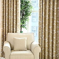 Two Panels Kapok Floral Blackout Curtains Drapes