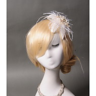 Women's Lace / Feather Headpiece - Wedding / Special Occasion / Casual Hair Clip 1 Piece