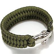 Bracelet de survie Randonnées Camping Survie Durable Urgence Nylon Jaune Vert Rouge Noir Violet