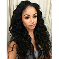 Unprocessed Natural Hair Wavy Lace Front Human Hair Wigs