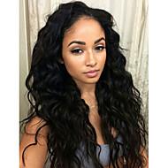 käsittelemätön hiuksiisi aaltoileva Nyörilliset hiuksista peruukit