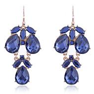 Vintage Crystal Water Drop Shape Chandelier Earrings