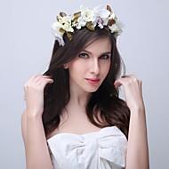 Dame / Blomsterpige Polyester / Plastikk Headpiece Bryllup / Spesiell Leilighet / Avslappet / Utendørs KranserBryllup / Spesiell