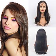 Cabelo cheio do laço 20inch perucas 100% cabelo humano rendas completo naturais reta perucas de cabelo indiano virgem para as mulheres