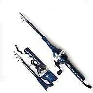 Convenient Integration Portable 131CM Telespin Rod กับเบ็ดตกปลา(0.235/120,0.285/100,0.33/80)