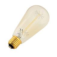 YouOKLight® 1PCS E27 40W CRI=80 400lm Warm White Light Incandescent Tungsten  Edison Filament Cone Bulb (AC 220-240V)