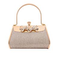 Золотистый - Клатч / Вечерняя сумочка - Для женщин - ПВХ / Металл - Минодьер