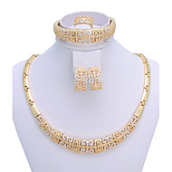 WesternRain Charms Style 18K Gold Plated Jewelry Chunky Necklace Set  Vintage Women Jewelry Set