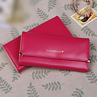 Fashion simple style triple lateral multi-card bit long horizontal  card package lady wallets