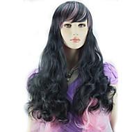 Parti perruque - Multicolore - Ondulé - en Fibre synthétique  - pour Femme