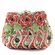 Ladies' Elegant Flower Rhinestone Hand Bags And Purses