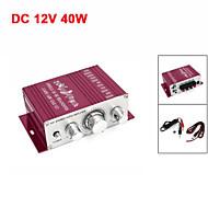bil aluminium mini hifi stereolyd effektforstærker 40W