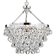 60 Chandelier ,  Traditional/Classic Chrome Feature for Crystal Metal Living Room Bedroom Dining Room Study Room/Office Entry Hallway