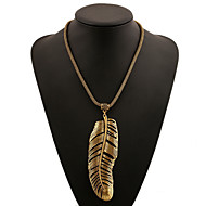Women's Necklace Fashion Banana Leaf Vintage Alloy Necklace Europe Style Casual All-Match Party Necklace