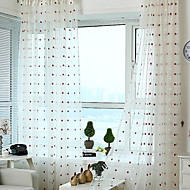 Two Panels Country Neoclassical Floral Botanical Multi-color Bedroom Polyester Sheer Curtains Shades