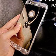 Para iPhone 8 iPhone 8 Plus iPhone 7 iPhone 7 Plus iPhone 6 iPhone 6 Plus Case Tampa Com Strass Galvanizado Espelho Capa Traseira Capinha