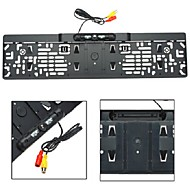 Car 4 LED 170° HD RearView Backup Europe License Plate Frame Parking Camera