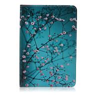 motif de prune cuir PU cas complète du corps avec support pour iPad mini-3/2/1