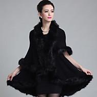 Wedding  Wraps / Fur Coats / Hoods & Ponchos Capes Sleeveless Faux Fur / Imitation CashmereBlack / Burgundy / White / Chocolate / Royal