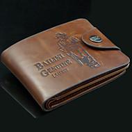 Men PU / Cowhide Bi-fold Wallet / Clip - Camel