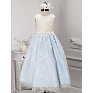 A-line Ankle-length Flower Girl Dress - Lace Sleeveless
