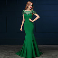 Formal Evening Dress - Clover Trumpet/Mermaid Scoop Sweep/Brush Train Cotton