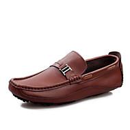 Alkalmi Férfi cipő Bőr Csónak cipők Fekete / Kék / Barna