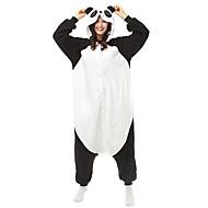 Kigurumi Pyjama  Panda Gympak/Onesie Festival/Feestdagen Animal Nachtkleding Halloween Zwart/Wit Patchwork / Kleurenblok Fleece Kigurumi