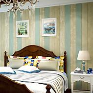 Contemporary Wallpaper Art Deco 3D Mediterranean Wood Grain Wallpaper Wall Covering Non-woven Fabric Wall Art