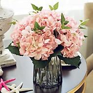משי הורטנזיות פרחים מלאכותיים