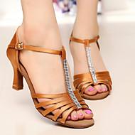 Sapatos de Dança ( Castanho ) - Mulheres - Customizáveis - Latim / Salsa / Samba