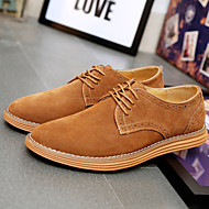 Big Size 38-47 Men's Shoes / Outdoor / Office & Career / Casual Suede OxfordsBlack / Blue / Brown / Yellow / Green