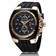 V6® Men's Watch Japanese Quartz Military Gold Case Rubber Band  Cool Watch Unique Watch Fashion Watch