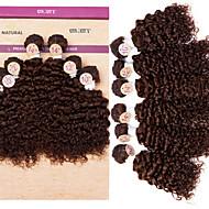 """evet tulokas kihara kutoa hiuksista Brasilian perverssi kihara nippuja # 4 hiukset 2x10 """"2x12"""" 2x14 """"200g / paljon"""