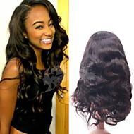 ali dronning brazilian jomfru hår krop wavehuman hår blonder foran paryk for sorte kvinder 130% tæthed gratis forsendelse