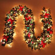 Navidad ratán escena navidad decoración suministros bowknot decora puede brillar caña de luz