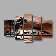 listo para colgar estirada pintura al óleo de la pared de la lona de arte del amanecer marino delfín pintado a mano enmarcada modernas