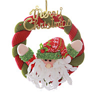 "8"" Merry Christmas Wreath Santa Claus Hanging Xmas Tree Decoration"