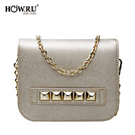 HOWRU ® Women 's PU Tote Bag/Single Shoulder Bag/Crossbody Bags-Silver/Light-Purple
