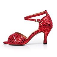 Scarpe da ballo - Non personalizzabile - Donna - Latinoamericano - Tacco a rocchetto - Pelle / Glitter - Rosso