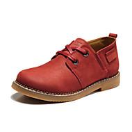 Calçados Femininos - Oxfords - Conforto - Rasteiro - Marrom / Vinho - Couro - Casamento / Escritório & Trabalho / Casual