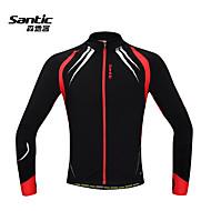 Maillot Cyclisme Vélo / Veste de cyclisme Homme manches longues polaire chaude vélo coupe-vent veste polaire + spandex la c01023r des hommes Santic